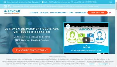 Site internet de Paycar