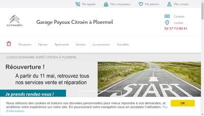 Site internet de Garage Payoux