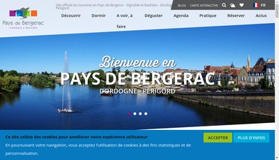 Site internet de Office de Tourisme Bergerac-Sud Dordogne