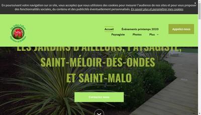 Site internet de Les Jardins d'Ailleurs