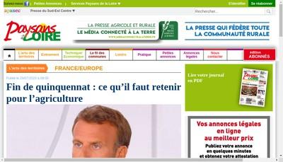 Site internet de Societe Journal Paysans de la Loire