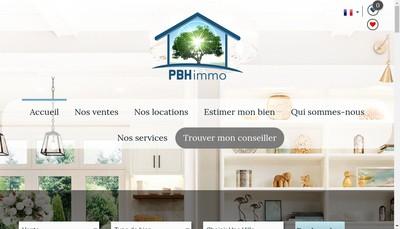 Site internet de Pbh Immo