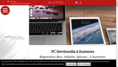 Site internet de Pc Servimedia Home
