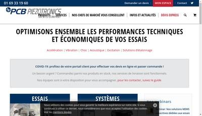 Site internet de Pcb Piezotronics