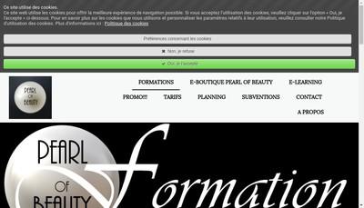 Site internet de Pearl Of Beauty