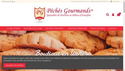 Site internet de Peches Gourmands