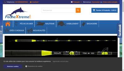 Site internet de PECHE EXTREME