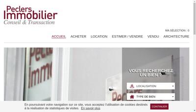 Site internet de Peclers Immobilier