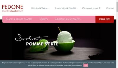 Site internet de Pedone Glacier