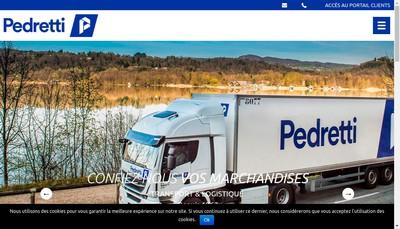 Site internet de Transports Pedretti Froid