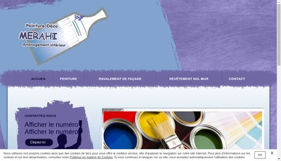 Site internet de Peinture Deco Merahi