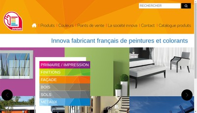 Site internet de Peintures Innova SA