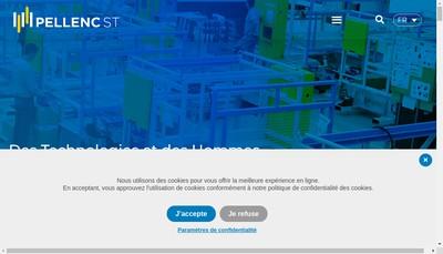 Site internet de Pellenc Selective Technologies