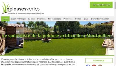 Site internet de Pelouses Vertes