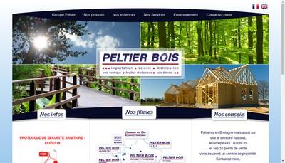 Site internet de Peltier Bois