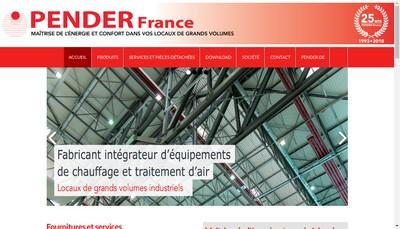 Site internet de Pender France