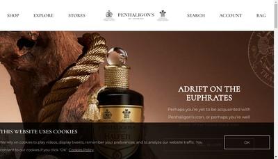 Site internet de Penhaligon'S France