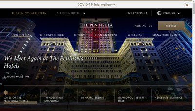 Site internet de Peninsula Golf