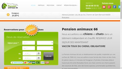 Site internet de Pension Animaux 66