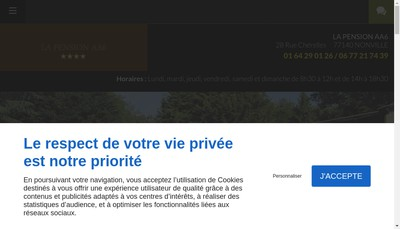 Site internet de Pension Aa6