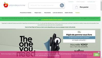 Site internet de Pepin et Pepine