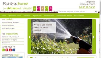 Site internet de Pepinieres Bourinet