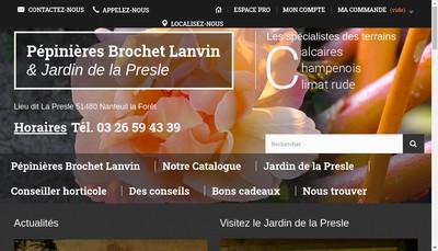 Site internet de Pepinieres et Jardins Brochet-Lanvin