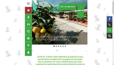 Site internet de Pepiniere la Roubine
