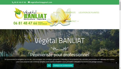 Site internet de Vegetal Banliat