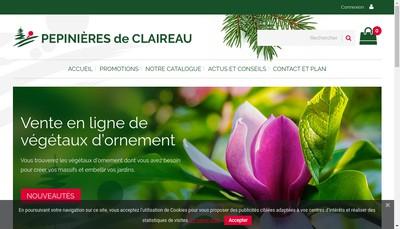 Site internet de Pepinieres de Claireau
