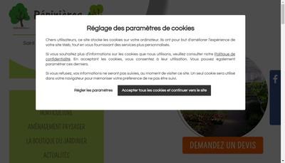 Site internet de Pepinieres Luc Andre