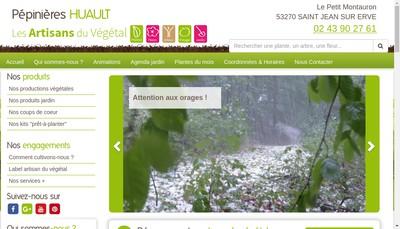 Site internet de EURL Pepinieres Huault