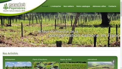 Site internet de Pepinieres Naudet
