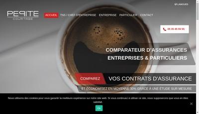 Site internet de Pepite Courtage
