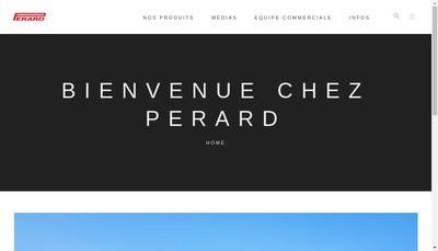 Site internet de Perard