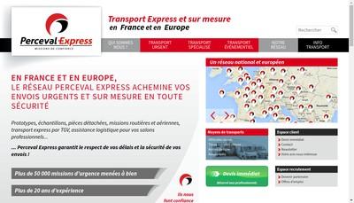 Site internet de Perceval Express