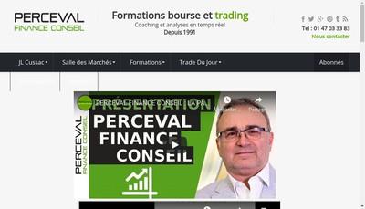 Site internet de Perceval Finance Conseil
