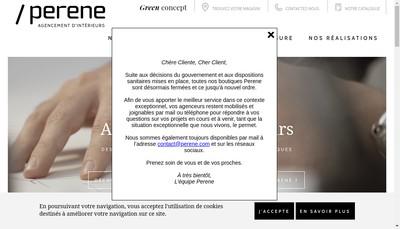 Site internet de Perene