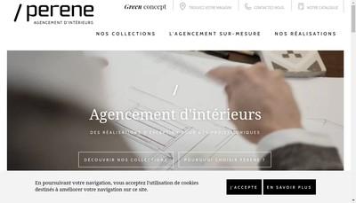 Site internet de Perene Colmar