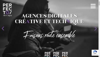 Site internet de Perfecto Groupe