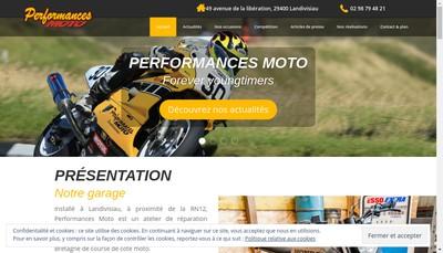 Site internet de Performances Moto