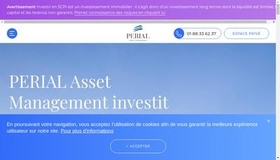 Site internet de Perial Asset Management