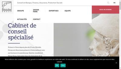 Site internet de Pericles Actuarial