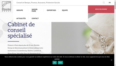 Site internet de Pericles Consulting Group