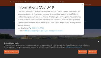 Site internet de Perigord Dordogne Montgolfieres