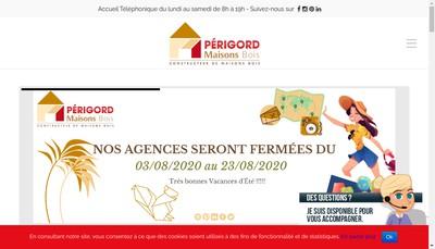 Site internet de Perigord Maisons Bois