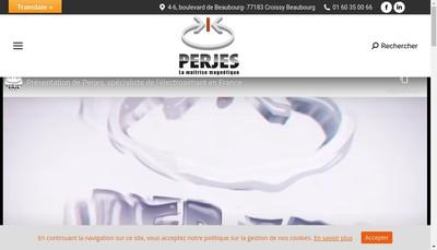 Site internet de Perjes