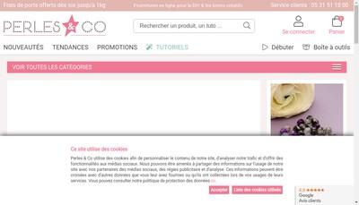 Site internet de Perles And Co