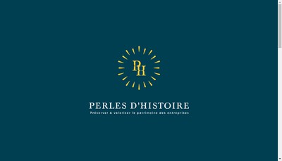 Site internet de Perles d'Histoire