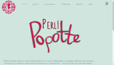 Site internet de Perli Popotte